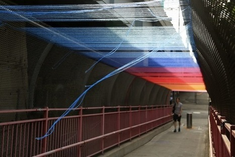 In NYC, A Bridge Covered With A Lovely Rainbow Canopy Made Of Threads | Nowadays | Scoop.it