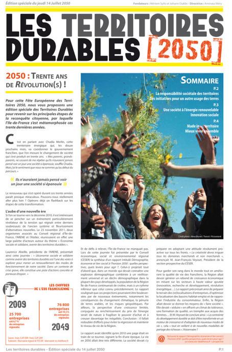 Territoires durables : cap sur 2050 | Chuchoteuse d'Alternatives | Scoop.it