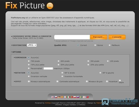 Fix Picture : un bon outil en ligne pour convertir et redimensionner facilement ses images | Mes outils du web | Scoop.it
