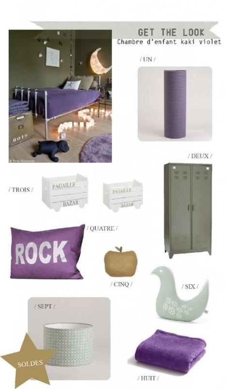 Soldes : Une chambre d'enfant en violet et kaki | décoration & déco | Scoop.it
