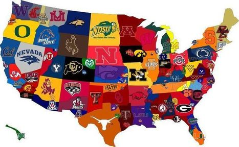 College Football Fan Map | Horn APHuG | Scoop.it