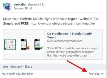 Using Facebook's Promote Post on Pages | Allround Social Media Marketing | Scoop.it