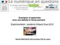 Enseigner et apprendre avec une tablette à l'école primaire   apprentissages multimédias via Tab   Scoop.it