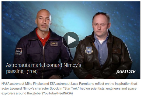 "VIDEO: ""The touching tribute to Leonard Nimoy from space"" 