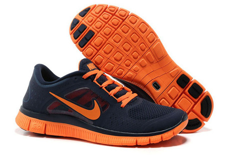 Nike Free Run 3 Light Midnight Total Orange-Mens | new and share list | Scoop.it