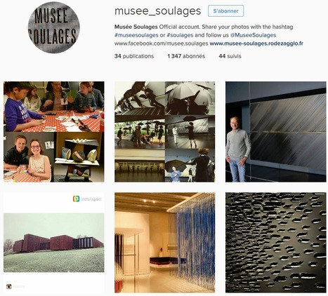 +10.1% d'abonnés Instagram et +1 place du Top 40 pour le Musée Soulages en avril 2016 | Clic France | Scoop.it