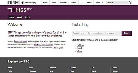 BBC - Blogs - Internet blog - Opening up the BBC's Linked Data with /things | dataInnovation | Scoop.it