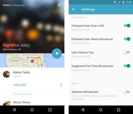 Twitter : l'application Periscope disponible sur Android - Clubic | Twitter for business | Scoop.it