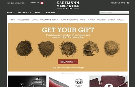 30 Beautiful and Creative Ecommerce Website Designs – Shopify | Design Revolution | Scoop.it