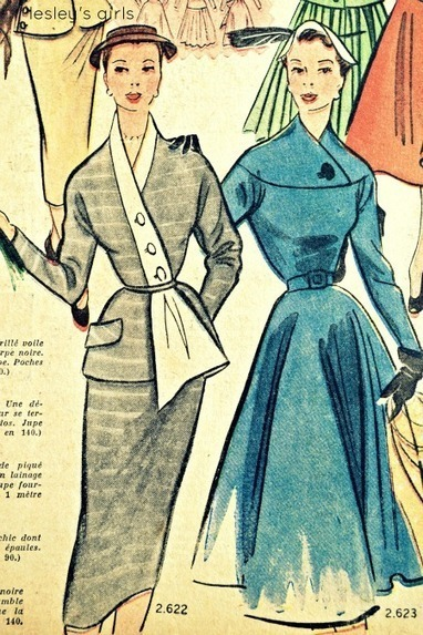 Lesley's Girls- Vintage Lifestyle and Fashion Blog: French Fashion Magazine Part Two- Spring 1952 | Vintage Fashion | Scoop.it