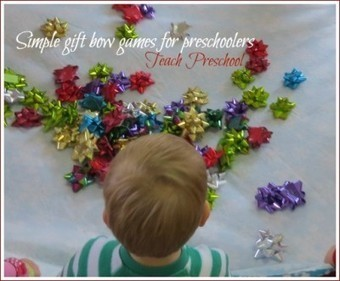 Simple gift bow game for preschoolers | Teach Preschool | Scoop.it