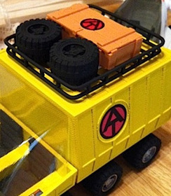 "Adventure Team Fan Creates His Own Toys Using 3-D Printing Technology; Produces 1/18th Scale Mobile Support Vehicle & ""Mummy's Tomb"" ATV 