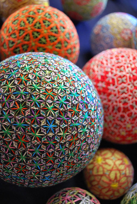 A 92-Year-Old Grandmother Creates A Spectacular Collection Of Embroidered Temari Spheres | The Blog's Revue by OlivierSC | Scoop.it