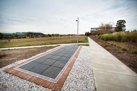 De nouveaux trottoirs équipés de panneaux solaires éclairent l'allée d'un campus universitaire | Immobilier | Scoop.it