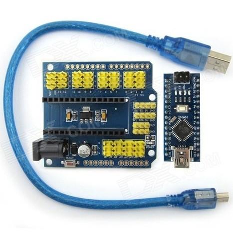 Mini-USB Nano 3.0 Atmega328P Development Board w/ USB Cable + Nano IO Extension Board for Arduino | Raspberry Pi | Scoop.it