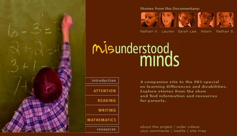 Misunderstood Minds | PBS | UDL & ICT in education | Scoop.it