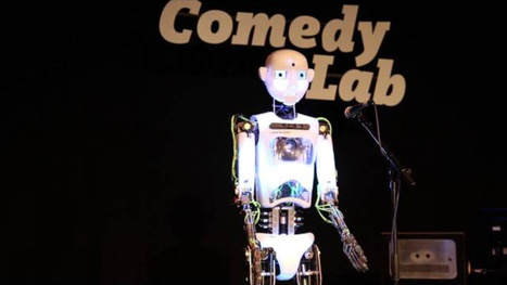 Robot comedian does a standup routine and reacts to the audience | Strange days indeed... | Scoop.it