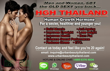 Human Growth Hormone, HGH, The Fountain of Youth - Urban Beauty Thailand | By Urban Beauty Thailand | CoolSculpting Zeltiq LOWEST Price Bangkok, Thailand for Sexier You - Liposuction, Vaser Lipo, Vaser Hi-def, Body Tightening Thailand | Scoop.it