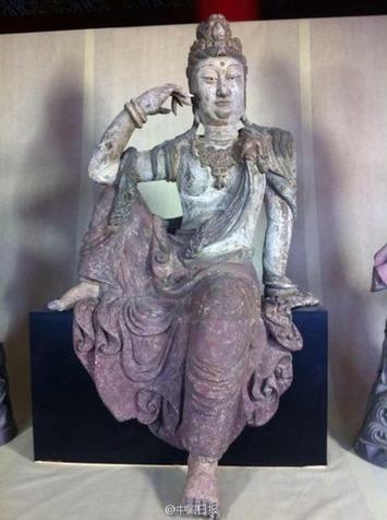 Cinq bouddhas chinois anciens en bois de retour plus de 70 ans après la guerre   French China   Asie   Scoop.it