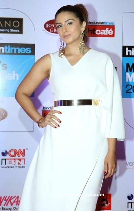 Huma Qureshi in Bhaavya Bhatnagar White Layered Jumpsuit with Metallic belt | Indian Fashion Updates | Scoop.it