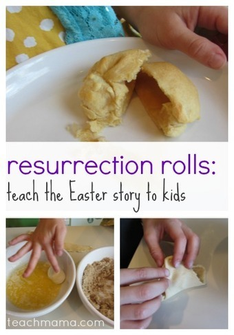 how to teach the easter story to kids: resurrection rolls - teach mama | Mudar o mundo | Scoop.it