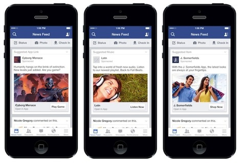 New Facebook Mobile Ads Deliver Engagement To Your Mobile Apps | Visual Content Strategy | Scoop.it