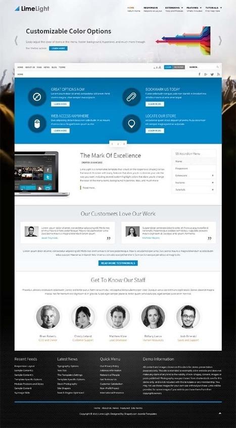 Lime Light, Joomla Retina Business Template | Premium Download | Premium Joomla Templates Download | Scoop.it