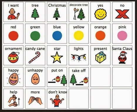 Chapel Hill Snippets: Ho! Ho! Ho! Tree Decorating Time! | AAC: Augmentative and Alternative Communication | Scoop.it