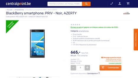 Le BlackBerry Priv en version Azerty pour décembre ? | Addicts à Blackberry 10 | Scoop.it