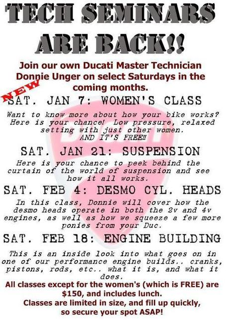 Duc Pond Motosports | Ducati technical seminars | Ductalk | Scoop.it