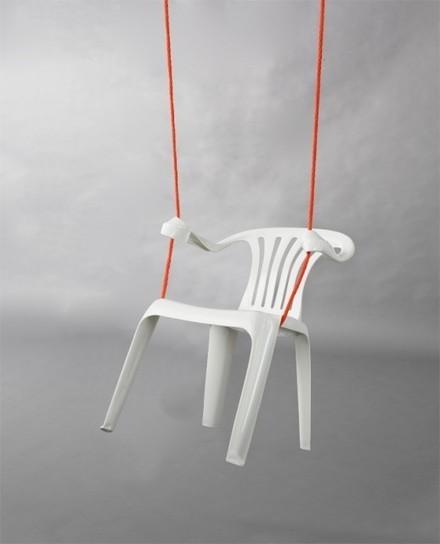 Plastic Chair Sculptures by Bert Loeschner | Plastics in Art | Scoop.it