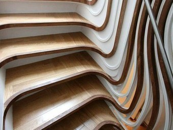 Mind-Blowing Stairs Mix Digital Fabrication with Artisanal Approach | ChoasMe | Scoop.it