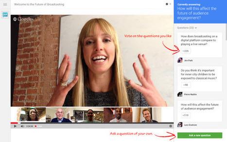 Hangouts en directo integran una nueva herramienta para interactuar con la audiencia | Educomunicación | Scoop.it