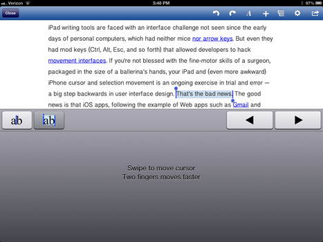 Crouching Nouns, Hidden Verbs: my search for a great iPad writing tool | Gary Bloom | iPad word processing | Scoop.it