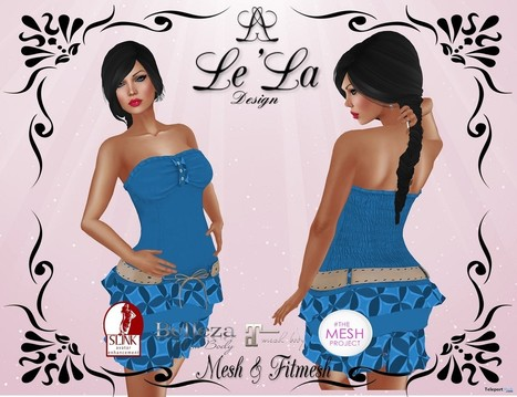 Dayla Dress Blue Group Gift by Le'La Design | Teleport Hub - Second Life Freebies | Second Life Freebies | Scoop.it