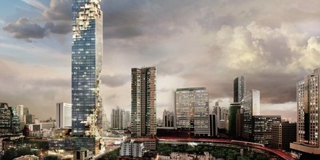 The new tallest building in Thailand looks like a pixelated image in mid-download | Innovative & Sustainable Building | Scoop.it