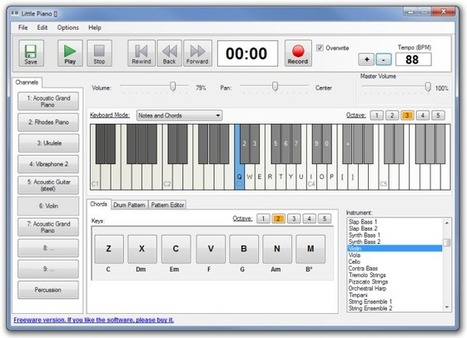 Little Piano: Virtual Keyboard With 174+ Instruments & Drum Patterns   Time to Learn   Scoop.it