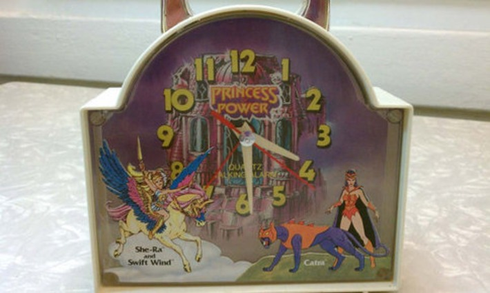 Retro She-Ra Princess Of Power Alarm Clock MOTU Swift Wind Catra 1980s | Kitsch | Scoop.it