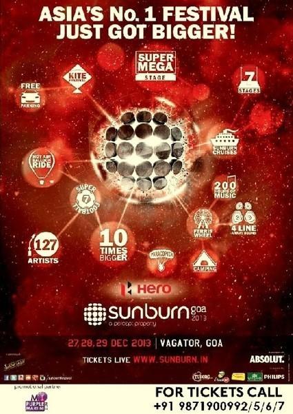 SUNBURN GOA 2013 at Vagator | Events In India | Scoop.it
