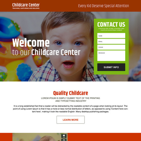 child care center converting responsive landing page design | responsive landing pages | Scoop.it