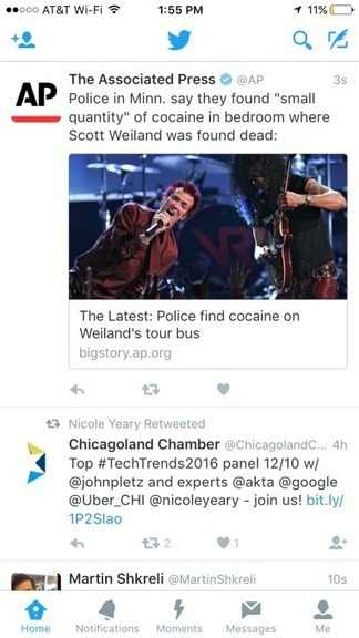 To Push Moments, Twitter Starts Shoving The Notifications Tab To The Side | Social Media Focus | Scoop.it