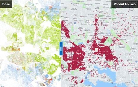 These two maps show the shocking inequality in Baltimore | Geography Education | Scoop.it