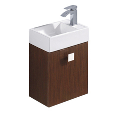 Shop VIGO 15-3/4-in x 10-3/4-in Wenge Single Sink Bathroom Vanity with Vitreous China Top at Lowes.com | Ashley's Interior Design ideas | Scoop.it