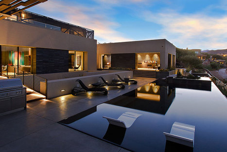 This tresarca home mimics the desert in las vegas - house plans | Design | Scoop.it