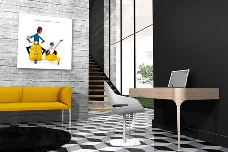 Concours | Les tableaux colorés de Qora & Shaï | décoration & déco | Scoop.it