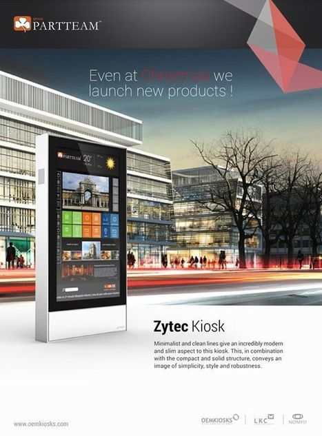 PARTTEAM & OEMKIOSKS presents the new outdoor kiosk, outdoor lcd, indoor kiosk GAUZY. | Digital Indoor & Outdoor kiosks (with videos) | Scoop.it