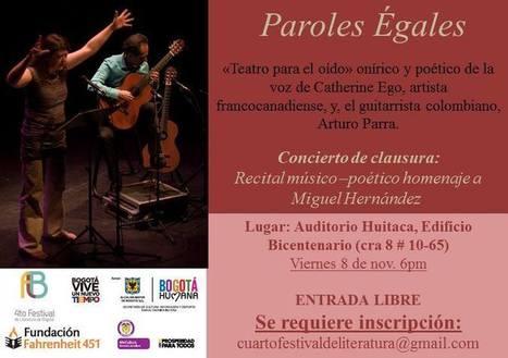 Este 8 de noviembre cierre del Festival de Literatura de Bogotá | Cultura Literaria | Scoop.it