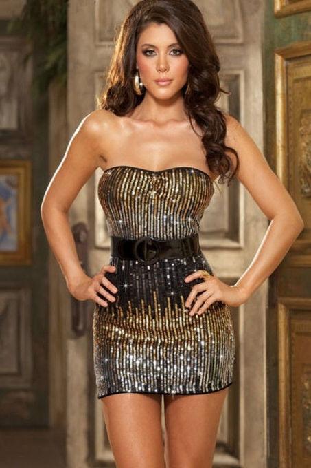 New Sexy Unique Ombre Sequin Strapless Dress Belt & Thon One Size Fits Most   Women Dresses   Scoop.it
