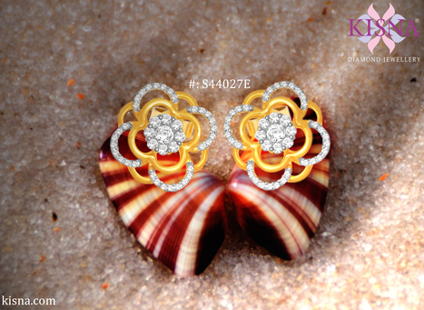 Artistic looking with a very Indian vibe these adorable earrings made with 14kt Gold and SI realdiamonds are must have in your collection from Kinsa Diamond Jewellery   Gold Diamond Jewellery Designs   Scoop.it