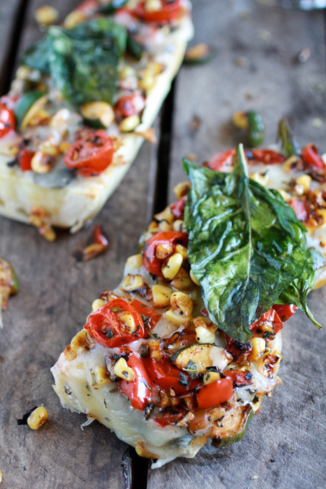 Simple Crispy Basil Caramelized Garden Vegetable + Fontina French Bread Pizza   The Man With The Golden Tongs Goes All Out On Health   Scoop.it